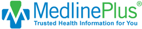 Medline Plus logo and link to medications
